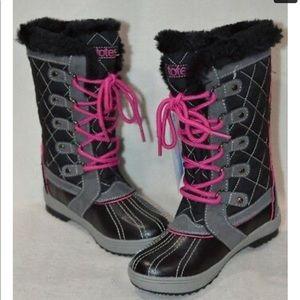 Totes Sabrina faux fur lined rain boots